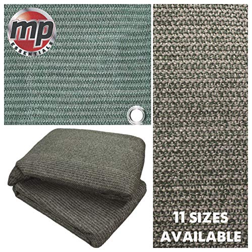 MP Essentials Weaved Supreme Rot Weatherproof Ground Covering Groundsheet Tent & Awning Carpet - GREEN & GREY (2.5 x 7m)