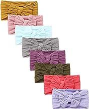 Mookiraer Baby Girl Newest Turban Headband Newborn Girls Headband Bow Set (NW-3) Pack of 6 Assortment