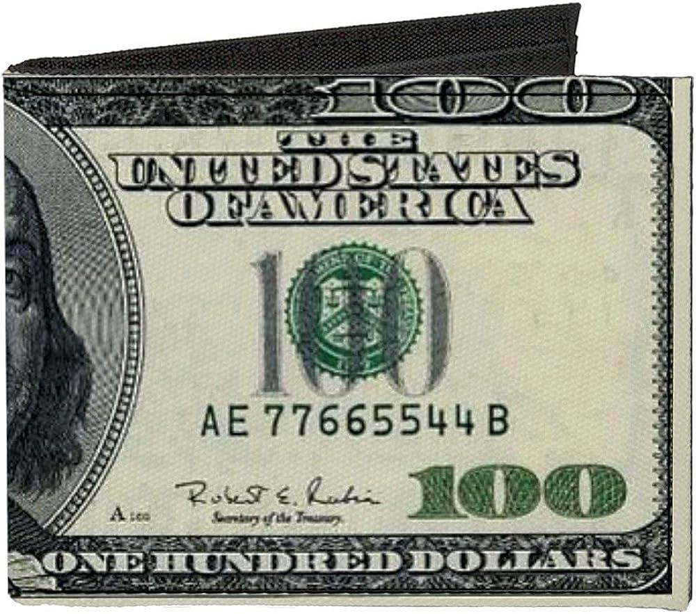 Buckle-Down New sales Men's Arlington Mall Standard Canvas Bifold x Money 4.0