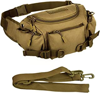 JFFCESTORE Waterproof Tactical Waist Pack, Fanny Packs Waist Pack Bag Lightweight Hip Bum Bag for Daily Life Fishing Cycling Camping Hiking Traveling Hunting