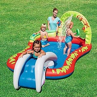 YAOXI Grande Niños Inflable Remar Quinielas, Al Aire Libre Jardín Antideslizante Fondo Agua Rociar Pelota Piscina Niños Grande Nadando Piscina Juguetes con Retirable Diapositiva