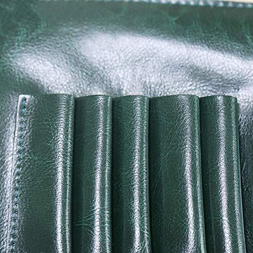 Cizallas para el cabello Estilista de cabello Embrague Funda de peluquería Funda for herramientas de corte de pelo Bolsa de soporte para el estilista de peluquería de salón (Color : Green)