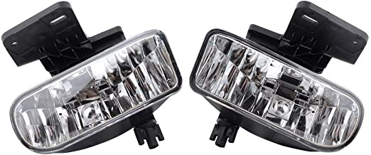 Fog Lights Compatible With Sierra GMC Yukon XL   Factory Style fog lights kit Chrome housing clear lensFog Lamps Left Right Pairs by IKON MOTORSPORTS
