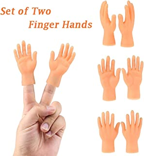 Panzisun 2PCS Finger Puppet Set Novelty Funny Set of Ten Rubber Finger Hand for Two Finger Hands Mini Puppets for Halloween Nights Music Festivals Stress Reliever