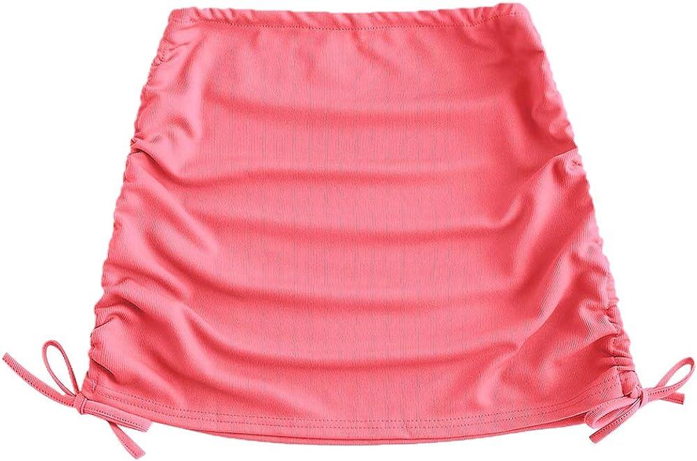 ZAFUL Women's Swimsuit Cover Up Crochet Sheer Short Beach Skirt with Tassels