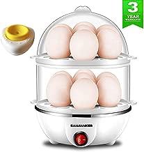 Egg Cooker,350W Electric Egg Maker,White Egg Steamer,Egg Boiler,14 Egg Capacity Egg Cooker With Automatic Shut Off,Egg cooker with Free Gift Egg Piercer