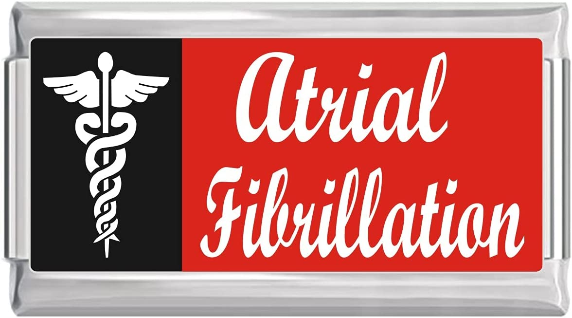 Atrial Fibrillation Medical All stores are sold Fashion Alert Italian on Charm Superlink Red