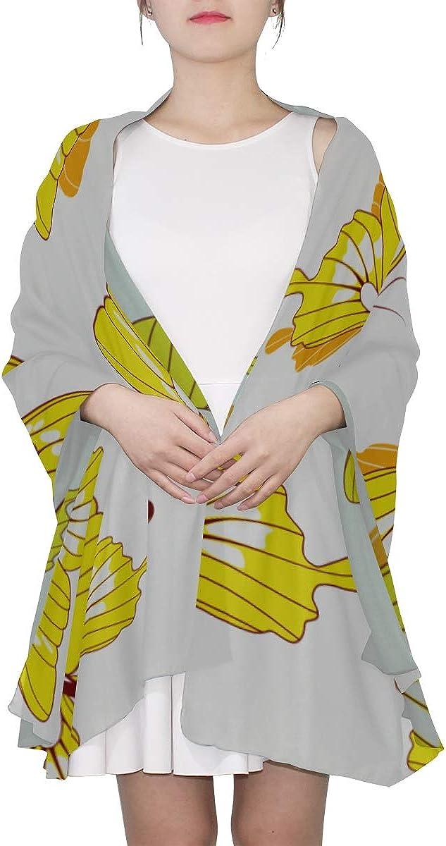 Womens Scarf Yellow Butterfly Lightweight Womans Shawls Wraps Fashion Scarf Lightweight Lightweight Print Scarves Fashion Lightweight Scarf Ladies Wrap Shawl