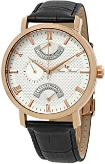 Men's LP-10340-RG-02S Verona Analog Display Quartz Black Watch
