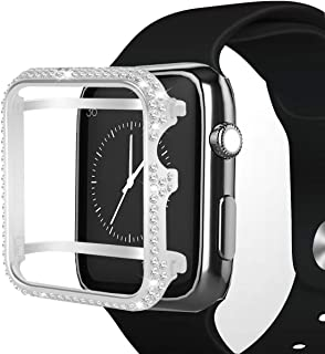 Hiseanllo Compatible with Apple Watch Case 42mm iWatch Bumper Protective Cover Crystal Rhinestone Bezel for Apple Watch Series 1, Series 2, Series 3 (Sliver, 42mm)