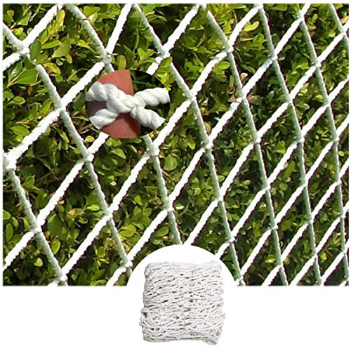 Safe Net Balcony Stair Protection Anti-fall Net Stairway Net - Baby Safety Rail Nets Goal for Soccer Heavy Duty Trellis Netting for Climbing Plants White 6mm/10cm (Size : 5x9m)