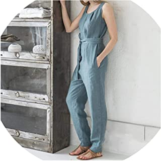 Women Jumpsuit 2019 Summer Trouser Pants Sleeveless Rompers Elegant Casual Office Palazzo Mujer
