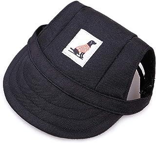 LAIYYI basebollkeps för hundar, justerbar för valpar, sportmössa med öronhål och hakrem