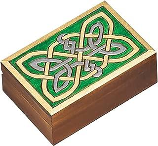 Celtic Knotwork Box Polish Handmade Jewelry Box Linden Wood Keepsake