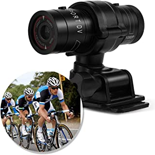 Rosvola Mini cámara DV Deportiva Full HD 1080P Bike Moto Cámara de Video DVR Impermeable para Deportes al Aire Libre
