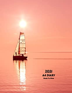 2021 A4 Diary Week To View: | Year Planner For Business, Office, Home, University, College, School, Appointments, Organizer.