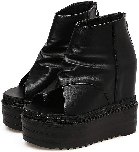 LBTSQ-Bouche De Poisson des Sandales Talons Hauts Le Clip des Talons Semelles épaisses Chaussures De Femme Les Talons De Chaussures De Romain Muffin Chaussures 7Cm 100 Pack Fashion