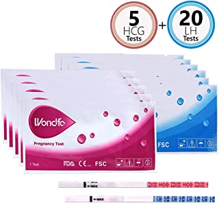 Wondfo Combo Ovulation and Pregnancy Tests,20 LH + 5 HCG