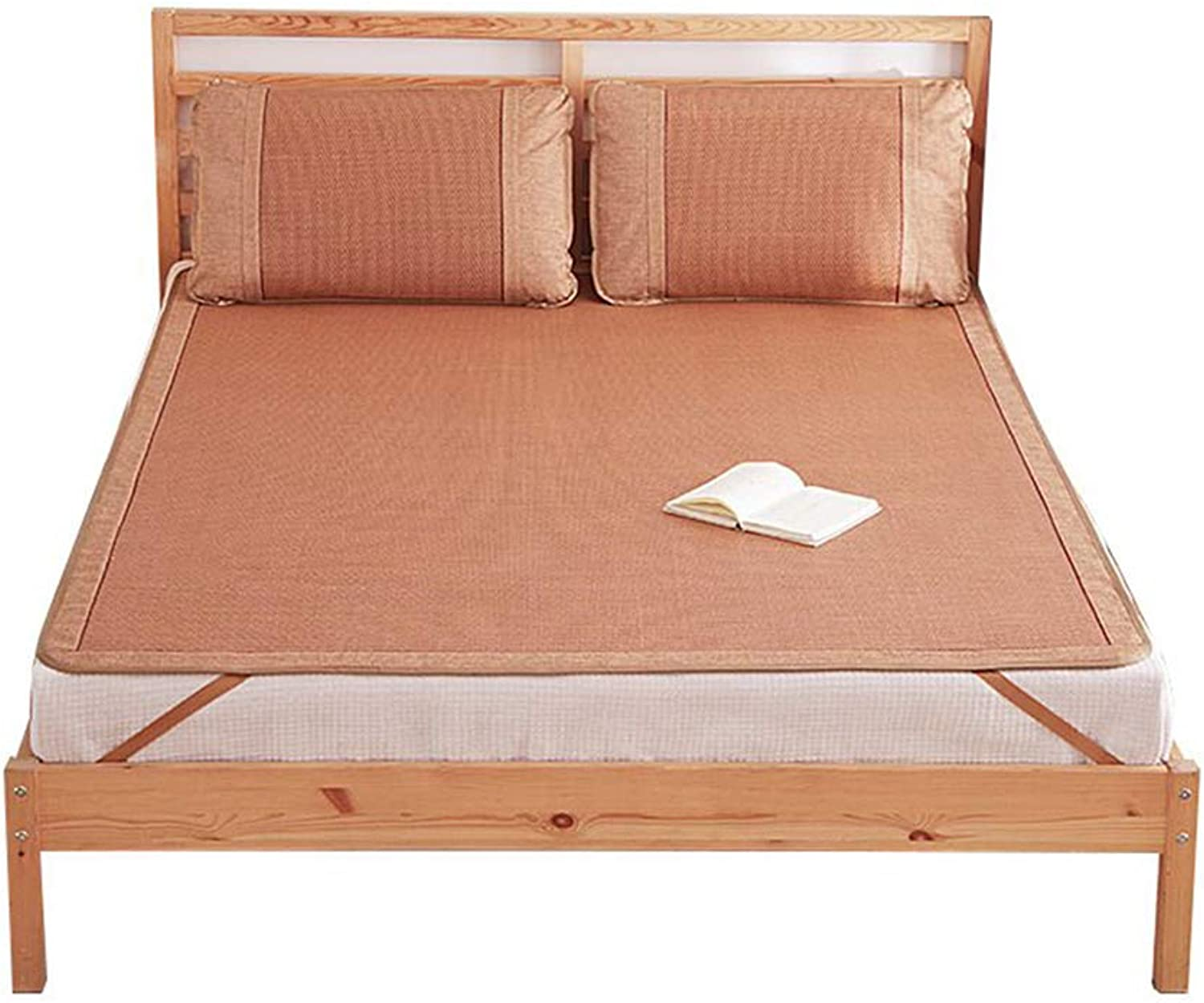 Summer Sleeping Mattress-Double-Sided Bamboo Bed Cooling Mat-Air Conditioning Bedding Topper Pad Mat with Pillowcase,150  195cm(59  77inch)