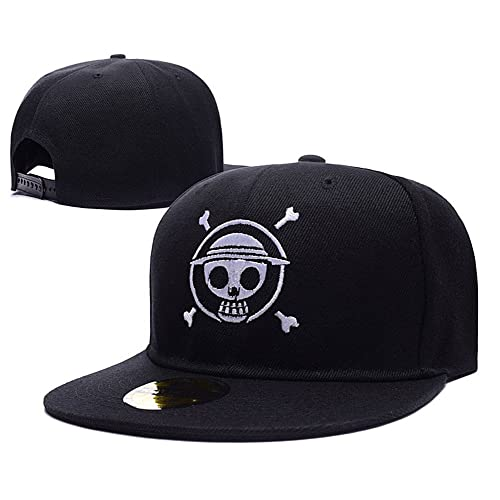 575aff4c91c One Piece Luffy Logo Adjustable Snapback Caps Embroidery Hats