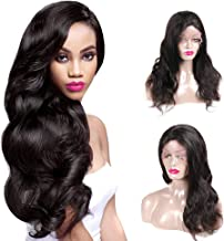 Lovely Queen 360 Lace Frontal Body Wave Human Hair Wigs 150% Density Brazilian Body Wave Wigs with Baby Hair for Black Women 16 inch Natural Color Can Be Dyed