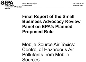 Final Report of the Small Business Advocacy Review Panel on EPA's Planned Proposed Rule - Mobile Source Air Toxics: Control of Hazardous Air Polluntants from Mobile Sources