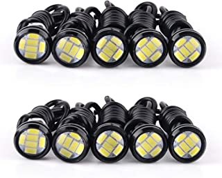 YITAMOTOR 10pcs 23mm Eagle Eye LED High Power 5730 6SMD White 12V DRL Daytime Running Light Back Up Backup Reverse Parking Light for Car Motorcycle Van SUV Coupe Sedan Power Wheels