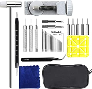 139Pcs Watch Band Link Remover Tool Kit, Watch Repair Kit Watch Band Holder Watch Band Spring Bar Tool Set with Watch Pins for Adjusting Watch Strap Link Repairing