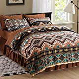 SexyTown Boho Comforter Set Queen Bed in A Bag 8 Piece Deep Pocket with Bed Skirt,Bohemian Tribal Southwestern Bedding Down Comforter(1 Comforter,4 Pillow Cases,Flat Sheet,Fitted Sheet,1 Bed Skirt)