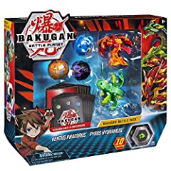 Includes 5 transforming Bakugan: Jump-start your Bakugan collection with the Bakugan battle pack. This pack has 5 collectible Bakugan figures plus all the cards you need to start battling your friends. Prepare to enter battle Planet! Roll to transfor...