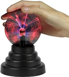 HDE Plasma Ball Lamp Light [Touch Sensitive] Nebula Sphere Globe Novelty Toy - USB or Battery Powered