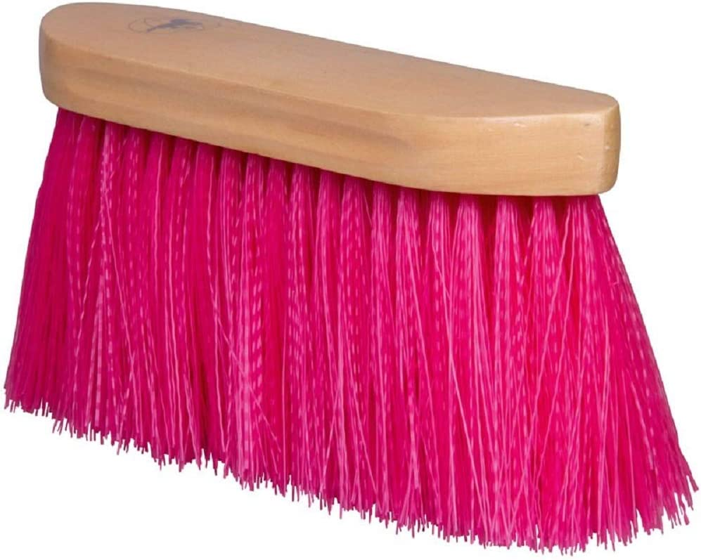 Imperial Riding Dandy Root Brush with Long Nylon Hair and Wooden Back Royal Purple