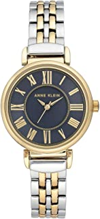 Anne Klein Womens Quartz Watch, Analog Display and Stainless Steel Strap AK2159NVTT Two Tone