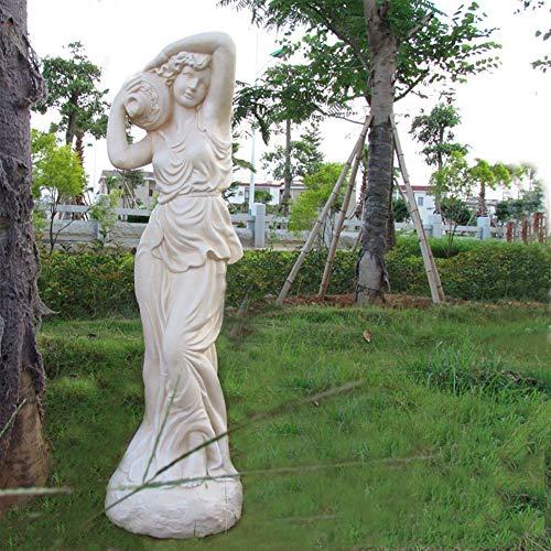 Resina Mármol Paisaje Estatuas para Al Aire Libre Patio Yarda Piscina,Grande ala Ángel Esculturas,Jardín Religiosa Diosa Figura Decoración del Hogar-Blanco f 123x35x35cm