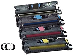 4 Pack of Replacement Black, Cyan, Magenta and Yellow Toners for HP Color Laserjet 2550 / 2550L / 2550LN / 2550N / 2800/28...