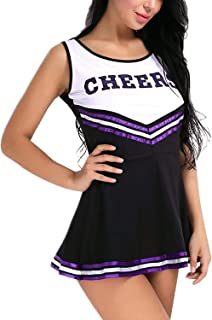 Women's School Girls Musical Party Halloween Cheerleader Costume Fancy Dress Uniform Outfit