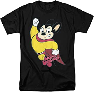 Mighty Mouse Character T Shirt & Stickers