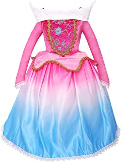 Aurora Princess Dress Up Girls Sleeping Beauty Cosplay Costume for Kids Birthday Party Pageant Gradient Ball Gown