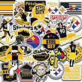 39 pcs Set of Pittsburgh Vinyl Steelers Stickers Pack of 2-2,5 inches