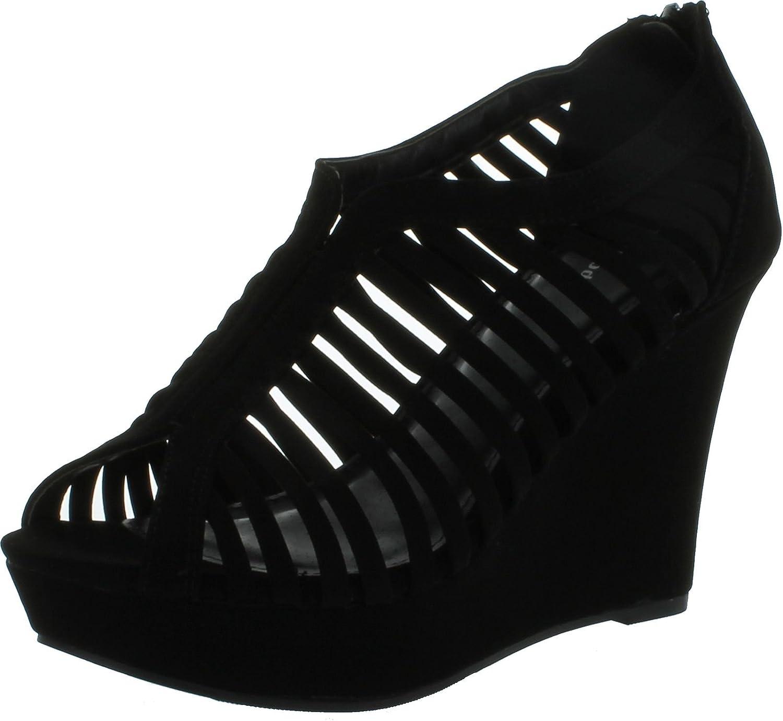 TOP Moda Womens Denver-1 Sandals Cheap bargain Gladiator Wedge Finally popular brand Heel