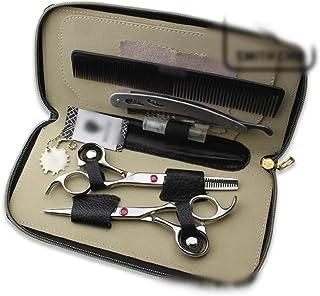 CHENyuan Tijeras de peluquería Profesional de 6 Pulgadas, Tijeras de peluquería, Tijeras Planas y