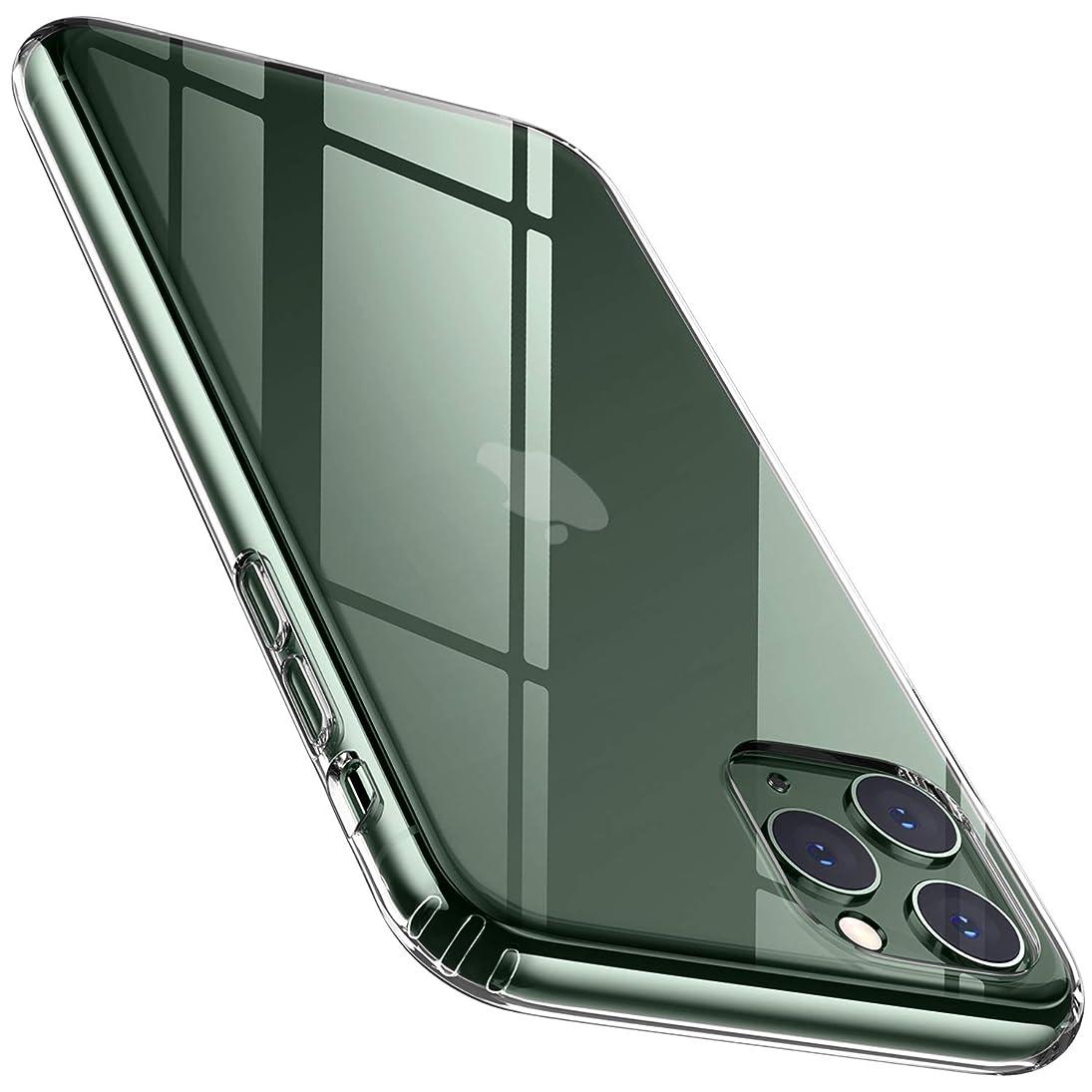 ドラマフリース飛行場DTTO iPhone 11 Pro ケース 5.8インチ クリア PC背面 TPUバンパー 薄型 耐衝撃 米軍MIL規格 高透明 三層構造 黄変防止 四隅滑り止め ワイヤレス充電対応 傷つき防止 クリア