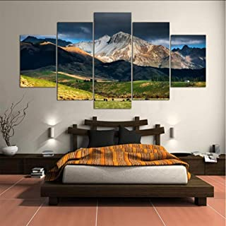Posters Prints Wall Art Poster Modern Prints Decor Living Room Or Bedroom Canvas 5 Pieces New Zealand Landscape Painting M...