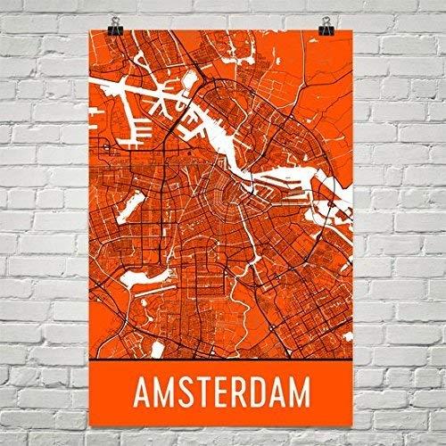 Amsterdam Poster, Amsterdam Art Print, Amsterdam Wall Art, Amsterdam Map, Amsterdam City Map, Amsterdam Nederland City Map Art, Amsterdam Gift, Amsterdam Décor