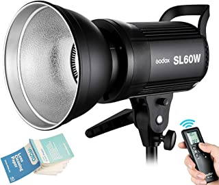 Godox SL-60W 60WS 5600±300K Bowens Mount Strobe Flash White Version Video Light Wireless Control Continuous on Photography...