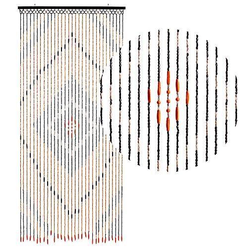 HAB & GUT -DV0151- Türvorhang Holz, BRAUN, 90 x 200 cm Bambus-Look Insektenschutz