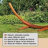 XXL Hängemattengestell 450 cm aus Holz inkl. 150 cm breiter Hängematte - 6