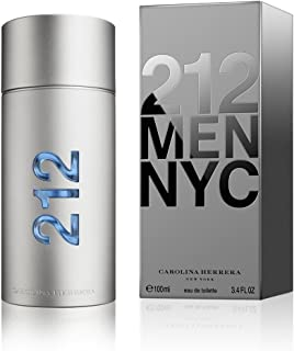 212 Men NYC by Carolina Herrera Eau De Toilette 3.4 oz 100 ml NEW (IN MIND)