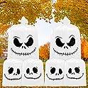 6-Count Dazonge Halloween Skellington Lawn Leaf Bags with Ties