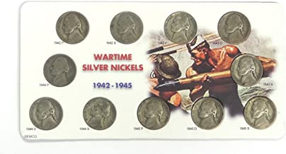 1942-1945 WarTime Silver Nickels 11-coin Set